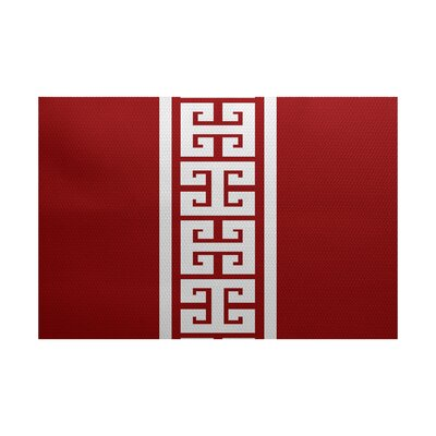 Hancock Red Indoor/Outdoor Area Rug Rug Size: 3 x 5