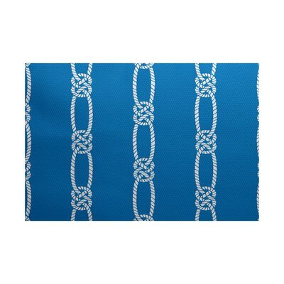 Hancock Blue Indoor/Outdoor Area Rug Rug Size: Rectangle 2' x 3'