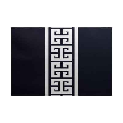 Hancock Navy Blue Indoor/Outdoor Area Rug Rug Size: 4 x 6