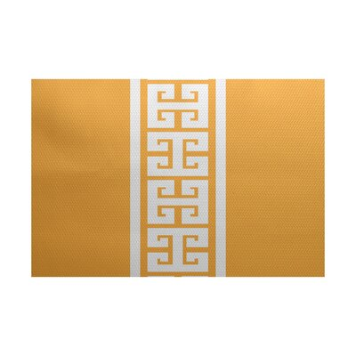 Hancock Yellow Indoor/Outdoor Area Rug Rug Size: 5 x 7