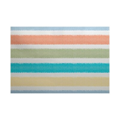 Bartow Orange/Blue/Green Indoor/Outdoor Area Rug Rug Size: 5 x 7
