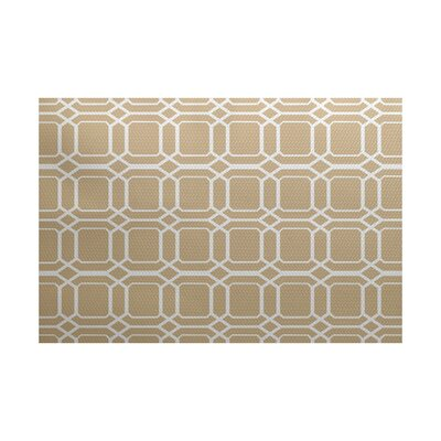 Golden Gate Beige Indoor/Outdoor Area Rug Rug Size: 3 x 5