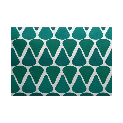 Bartow Green Indoor/Outdoor Area Rug Rug Size: 5 x 7