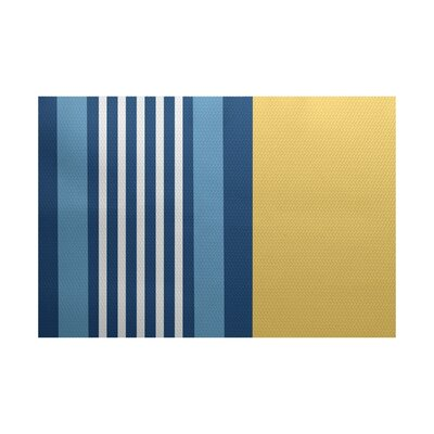 Bartow Yellow/Blue Indoor/Outdoor Area Rug Rug Size: 5 x 7