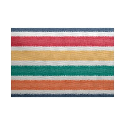 Golden Gate Red/Green/Yellow Indoor/Outdoor Area Rug Rug Size: 2 x 3