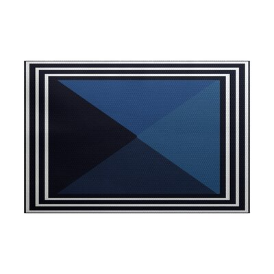 Bartow Blue Indoor/Outdoor Area Rug Rug Size: 2 x 3