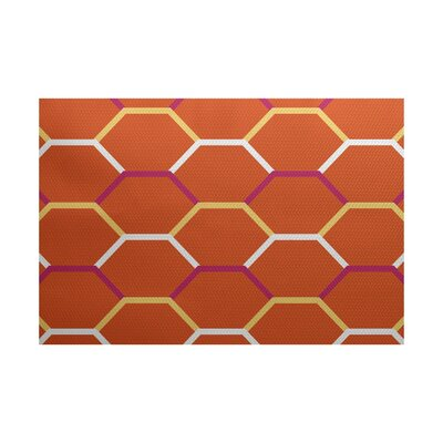 Golden Gate Geometric Orange Indoor/Outdoor Area Rug Rug Size: 3 x 5