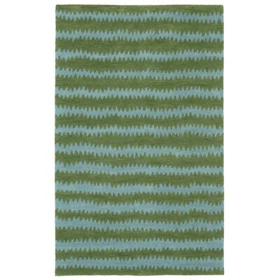 Gaia Hand-Tufted Green Area Rug Rug Size: 36 x 56