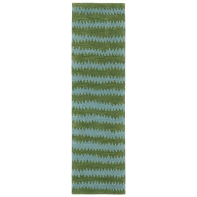 Gaia Hand-Tufted Green Area Rug Rug Size: Runner 23 x 8