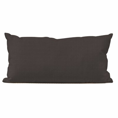Ismene Outdoor Sunbrella Lumbar Pillow Fabric: Seascape Charcoal