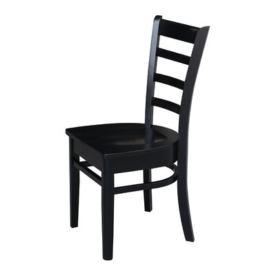Bloomfield Solid Wood Dining Chair Color: Black