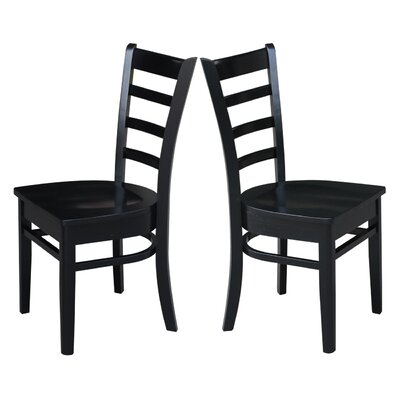 Bloomfield Solid Wood Dining Chair Finish: Black/Cherry