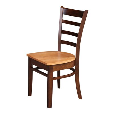 Bloomfield Solid Wood Dining Chair Color: Cinnamon/Espresso