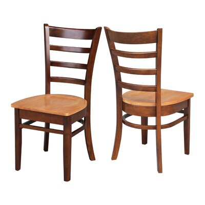 Bloomfield Solid Wood Dining Chair Finish: Cinnamon/Espresso