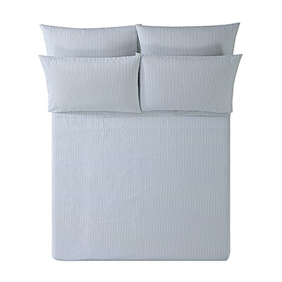Melaina Ticking Stripe Sheet Set Size: Full, Color: Gray