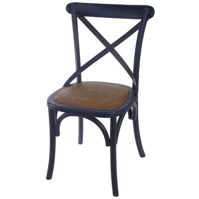 Eulalie Side Chair Color: Blue