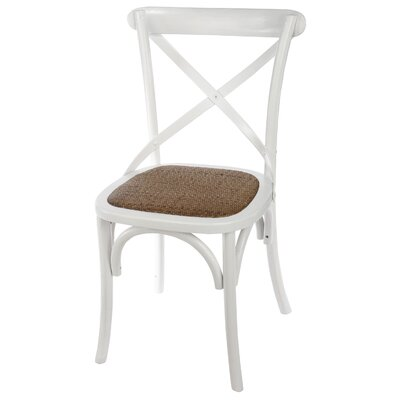 Eulalie Side Chair Color: White