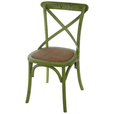 Eulalie Side Chair Color: Green