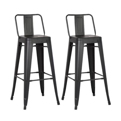 Derbyshire 24 Bar Stool Color: Matte Black
