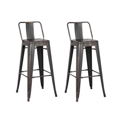Derbyshire 24 Bar Stool Finish: Sand Matte Black