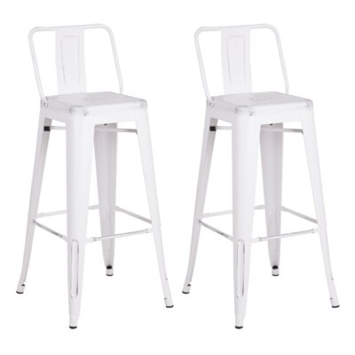 Giada 24 Bar Stool Finish: Sand Matte White