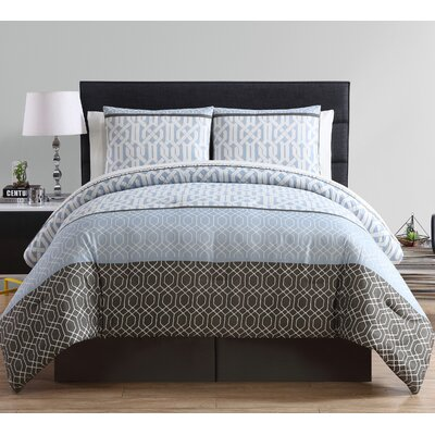 Williamsburg 8 Piece Comforter Set Color: Light Blue, Size: Queen
