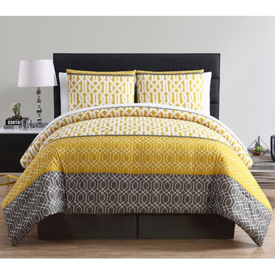 Lake Worth 8 Piece Comforter Set Color: Yellow, Size: King
