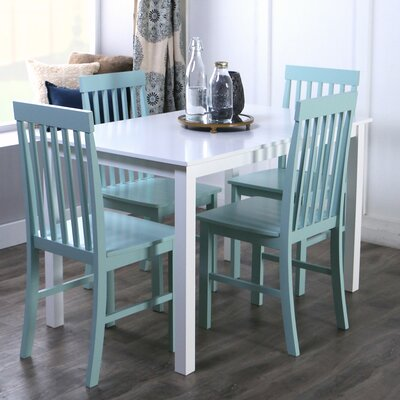 Cienna 5 Piece Dining Set Chair Finish: Mint