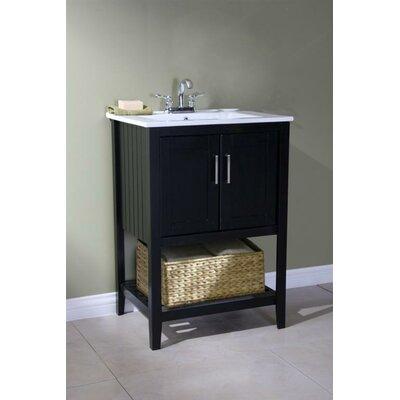 Lambeth 24 Single Bathroom Vanity Set with Basket Base Finish: Espresso