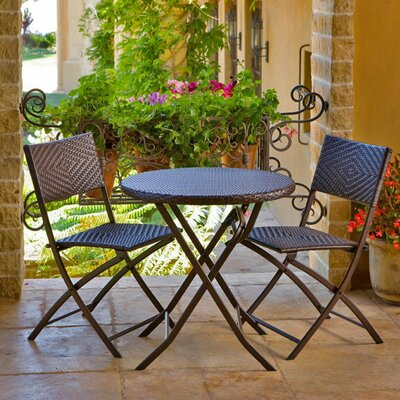 Calhoun Wicker 3 Piece Bistro Set