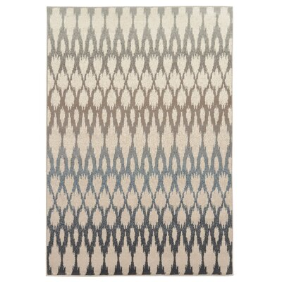 Rutland Hand-Woven Beige/Blue Area Rug Rug Size: Rectangle 67 x 93