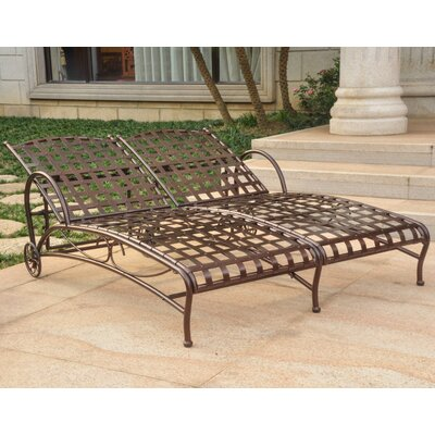 Foxdale Double Chaise Lounger Finish: Hammered Bronze