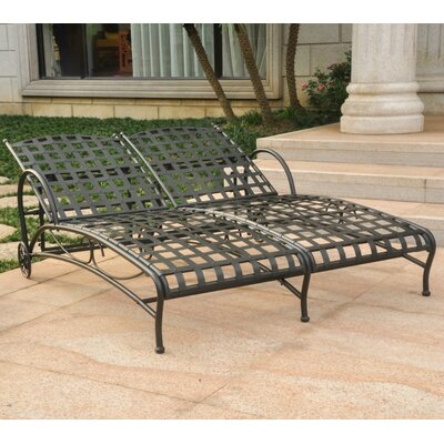 Gladstone Double Chaise Lounger Finish: Antique Black