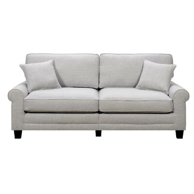 Buxton 73 Rolled Arm Sofa Upholstery: Light Gray