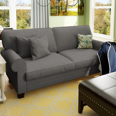 Hereford 78 Rolled Arm Sofa Upholstery Color: Grey
