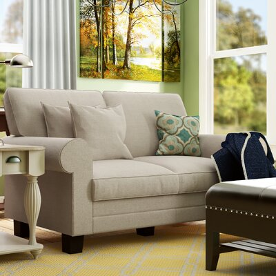 Buxton 61 Rolled Arm Loveseat