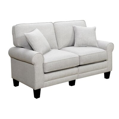 Hereford 61 Rolled Arm Loveseat Upholstery Color: Light Gray