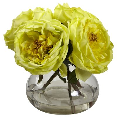 Fancy Rose in Vase Color: Yellow