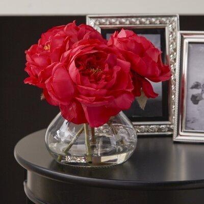 Fancy Rose in Vase Color: Red