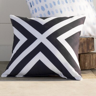 Jackson Stripes Print Outdoor Pillow Size: 18 H x 18 W x 1 D, Color: Bewitching