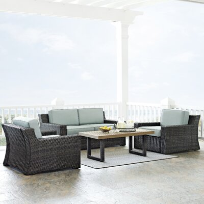 Linwood 4 Piece Deep Seating Group with Cushion