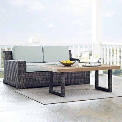 Cavisson 2 Piece Deep Seating Group with Cushion