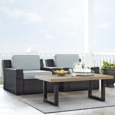 Linwood Traditional 3 Piece Deep Seating Group with Cushion