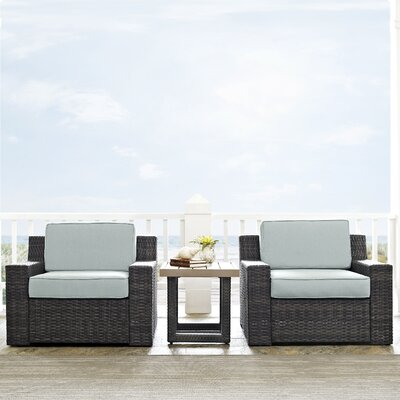 Cavisson 3 Piece Deep Seating Group with Cushion