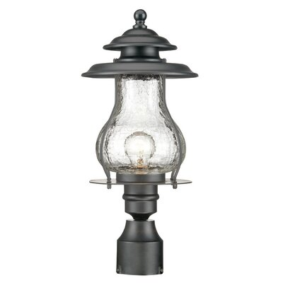 Smithsonian Outdoor 1-Light Lantern Head Finish: Matte Black