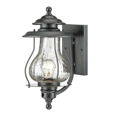 Smithsonian 1-Light Outdoor Sconce Finish: Matte Black