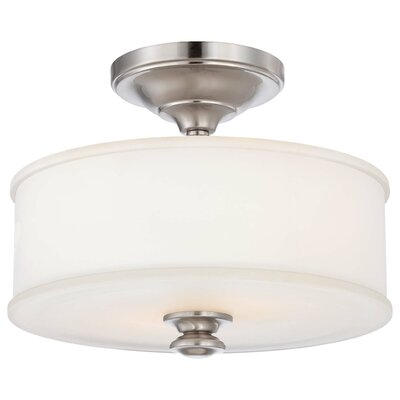 Bowers 2-Light Semi-Flush Mount Finish: Brushed Nickel