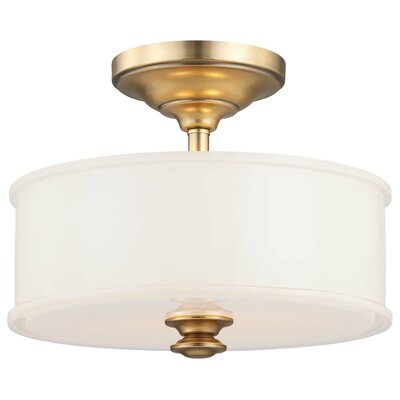 Bowers 2-Light Semi-Flush Mount Color: Liberty Gold