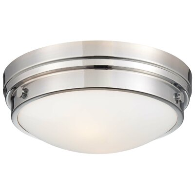 Anthony 2-Light Flush Mount Color: Chrome