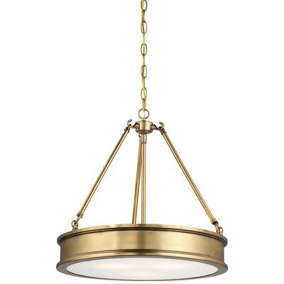 Bowers 3-Light Drum Pendant Color: Liberty Gold